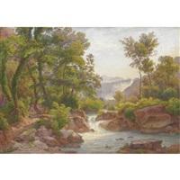 cascate nella campagna romana by salomon corrodi