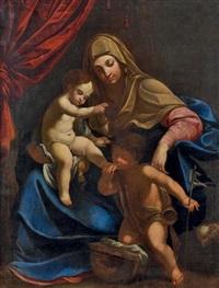 vierge à l'enfant et saint jean baptiste by guido reni