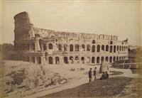 colosseo e meta sudans (+ roma, piazza di santa maria maggiore; 2 works) by gioacchino altobelli