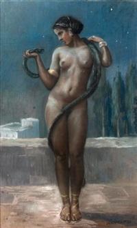 femme au serpent by jean camus