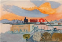 sonnenaufgang bei patras by walter honeder