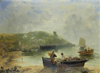 hazy morning at heysham by john wright oakes