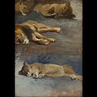 leoni a riposo by alcide davide campestrini