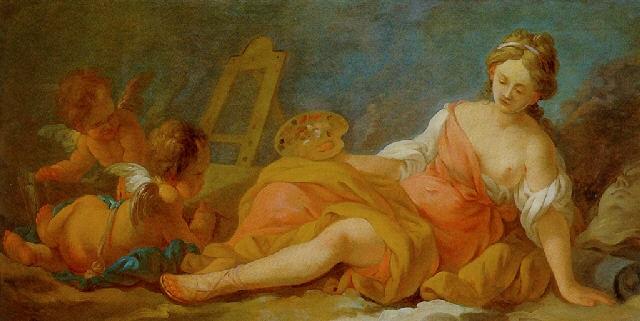 allégorie de la peinture by nicolas guy brenet