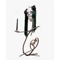 kerzenstock mit maske (candle holder with mask) by eva aeppli and jean tinguely