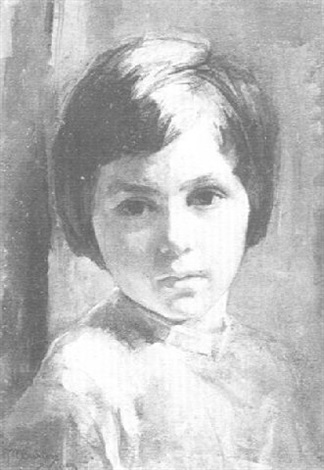 portrait of a young girl by alice mary burton
