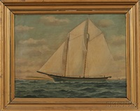portrait of the topsail schooner island home by william pierce stubbs