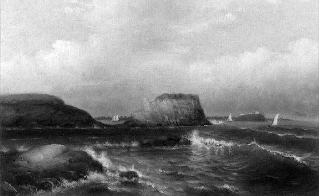 sailing off of egg rock, nahant by john gordon saxton