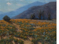 poppies near pasadena by benjamin chambers brown
