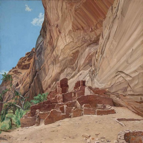 white house ruin canyon de chelly afternoon by philip pearlstein