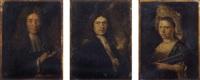 portrait of a gentleman holding a book by jacques autreau