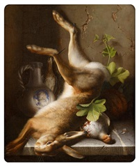 still life with hare and game bird by jakob lehnen