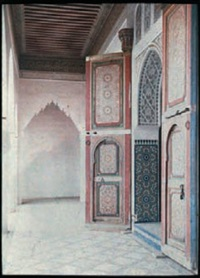 maroc: palais de la bahia à marrakech by jules gervais courtellement