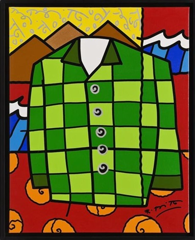 the green shirt by romero britto