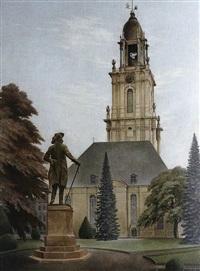 standbild des alten fritz vor der garnisonkirche in potsdam by heinrich basedow
