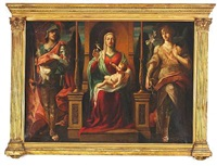 altarpiece with mary with the infant christ between two saints by anonymous-british (19)