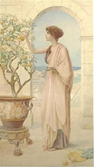 the orange tree by henry ryland
