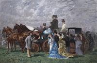 elégants aux courses by auguste serrure