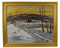 snowy landscape by hugh h. campbell