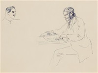 Untitled (Man at Table, Reading)