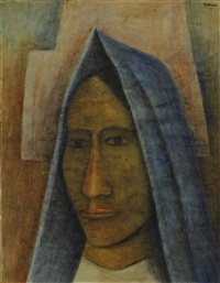 portrait of a woman by rufino tamayo