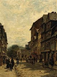 a busy street scene by paul andorff