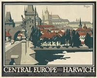 prague/central europe via harwich by frank newbould