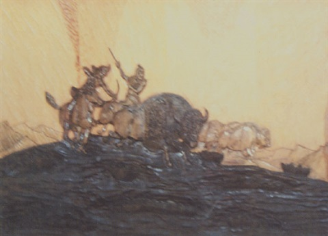 buffalo hunt by albert racine