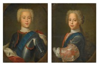 portrait of prince charles edward stuart; portrait of prince henry benedict stuart, later cardinal york (pair) by antonio david