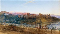 view of the alhambra from the north by charles earle