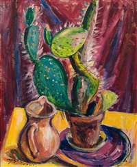 cactus and pitcher by yrjö saarinen