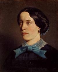 portrait von pauline, geborene preyß by heinrich von angeli