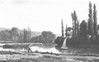 wooden river landscape by eugen arbeit