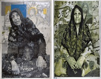 mother (+ sister, irgr; from the terrorist series, 2 works) by khosrow hassanzadeh