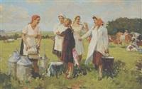 milkmaids by sergei yakovlevich dunchev
