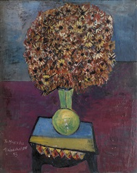 vase with flowers by nahum tschacbasov