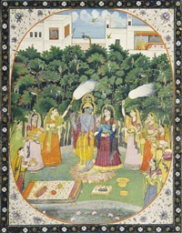 the gopis pay homage to krishna and radha by anonymous-indian (19)