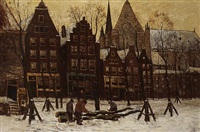 noordermarkt, amsterdam by henri van lerven
