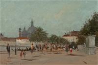 venetian street scene by roy petley