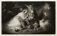 midsummer nights dream (after sir edwin landseer) by samuel cousins
