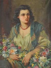 a flower girl by marcel krasicky
