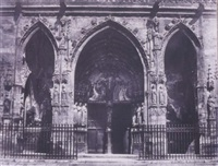 portail de la cathédrale saint germain - l'auxerrois à paris by francois alphonse fortier