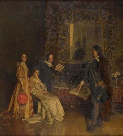 elegant figures in an interior by william ewart lockhart
