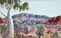 central desert landscape by herbert raberaba