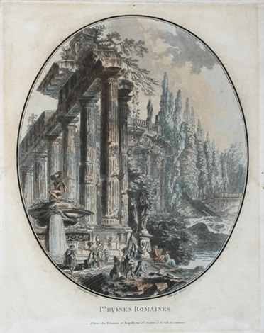 ier ruines romaines after j h a pernet by jean françois janinet