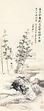 修竹高士 (the hermit) by zhang daqian