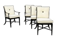 montoro outdoor arm chairs (set of 4 works) by kreiss furnishings