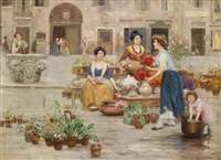am blumenmarkt by cesare vianello
