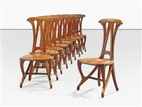 dining chairs (set of 10) by albert carl angst