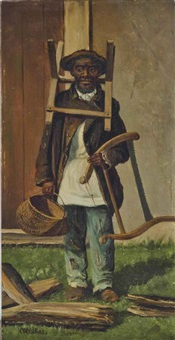 man with bucksaw by william aiken walker